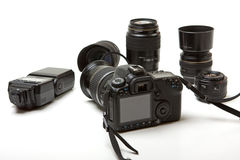 Equipamento da foto fotografia de stock