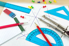 Equipamento da geometria Foto de Stock