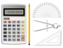 Equipamento da geometria Imagens de Stock Royalty Free