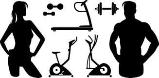 Equipamento da ginástica do â da aptidão (vetor) Fotos de Stock Royalty Free