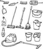 Equipamento da limpeza Imagem de Stock Royalty Free