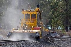 Equipamento da limpeza da manutenção da trilha do trem Foto de Stock