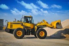 Equipamento da maquinaria de construção da máquina escavadora do carregador Imagens de Stock Royalty Free