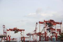 Equipamento da maquinaria do porto no porto do shekou de shenzhen, Fotos de Stock