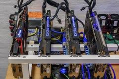 Equipamento da mineração de Cryptocurrency Imagem de Stock