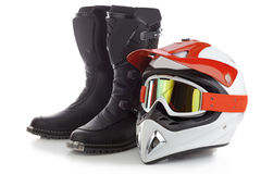 Equipamento da proteção do motocross Fotografia de Stock Royalty Free