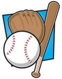 Equipamento de basebol ilustração royalty free