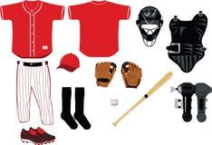 Equipamento de basebol Foto de Stock