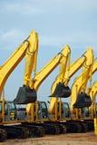 Equipamento de construção da máquina escavadora imagens de stock royalty free