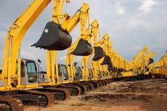 Equipamento de construção da máquina escavadora Imagem de Stock Royalty Free
