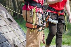 Equipamento de escalada Foto de Stock Royalty Free