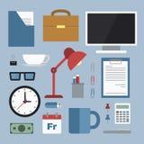 Equipamento de escritório para negócios Fotografia de Stock