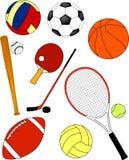 Equipamento de esporte - vetor Fotos de Stock Royalty Free