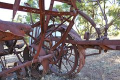 Equipamento de exploração agrícola oxidado Imagem de Stock Royalty Free