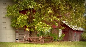 Equipamento de exploração agrícola velho Foto de Stock Royalty Free