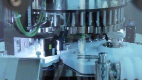 Equipamento de fabricação farmacêutico Fabricação médica dos tubos de ensaio video estoque
