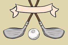 Equipamento de golfe Foto de Stock