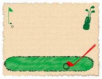 Equipamento de golfe Foto de Stock Royalty Free