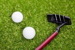 Equipamento de golfe fotografia de stock royalty free