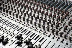Equipamento de gravação audio Foto de Stock