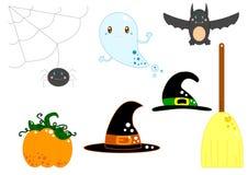 Equipamento de Halloween Imagem de Stock