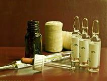 Equipamento de homem de medicina foto de stock