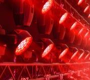 Equipamento de iluminação da fase fotografia de stock