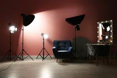 Equipamento de iluminação profissional diferente foto de stock royalty free