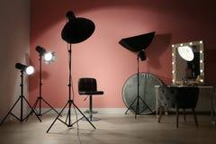 Equipamento de iluminação profissional diferente fotos de stock