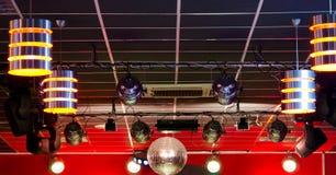 Equipamento de iluminação profissional do clube fotos de stock