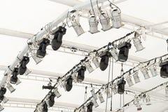 Equipamento de iluminação sob o telhado fotografia de stock royalty free