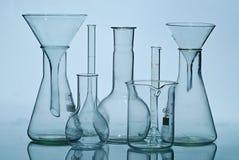 Equipamento de laboratório de vidro Fotografia de Stock Royalty Free