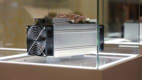 Equipamento de mineração de Cryptocurrency - ASIC - circuito integrado característico da aplicação no suporte da exploração agríc vídeos de arquivo