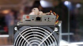 Equipamento de mineração de Cryptocurrency - ASIC - circuito integrado característico da aplicação no suporte da exploração agríc filme