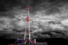 Equipamento de perfuração para a exploração do petróleo Foto de Stock
