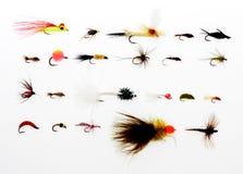 Equipamento de pesca da mosca imagem de stock
