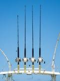Equipamento de pesca do mar profundo sobre um barco Fotos de Stock Royalty Free
