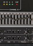 Equipamento de processamento audio Fotografia de Stock Royalty Free