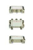 Equipamento de telecomunicação no fundo branco Imagens de Stock Royalty Free