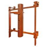 Equipamento de treino do manequim de Wing Chun /wooden isolado no branco imagens de stock royalty free