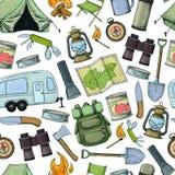 Equipamento do acampamento e do turismo Foto de Stock