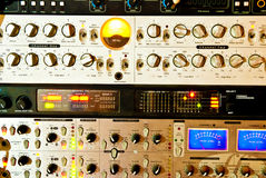 Equipamento do amplificador fotografia de stock