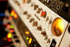 Equipamento do amplificador foto de stock