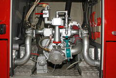 equipamento do Anti-incêndio - dispositivo para a água e a espuma Fotos de Stock