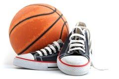 Equipamento do basquetebol Fotos de Stock