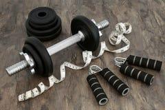 Equipamento do body building foto de stock royalty free