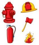 Equipamento do bombeiro Fotografia de Stock Royalty Free