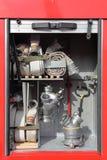 Equipamento do carro de bombeiros Foto de Stock Royalty Free