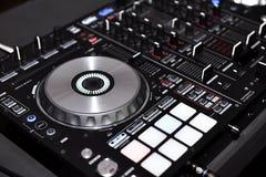 Equipamento do DJ, controlador do DJ Imagem de Stock