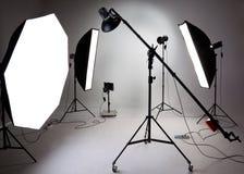 Equipamento do estúdio da foto Fotos de Stock Royalty Free